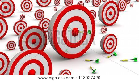 Targets of various sizes. Hit the target