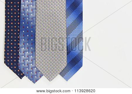 More Ties On White