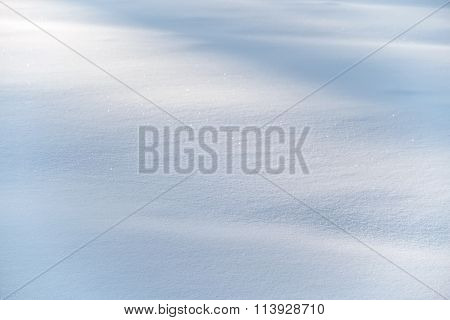 Detail Of A White Snowdrift Winter