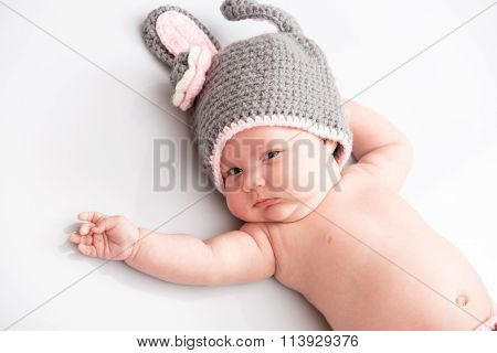 A Cute Newborn Little Baby Girl. Use It For A Child, Parenting Or Love Concept.