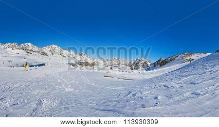 Mountains ski resort Austria - nature and sport background