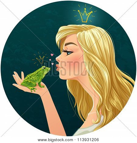 Princess kisses a frog