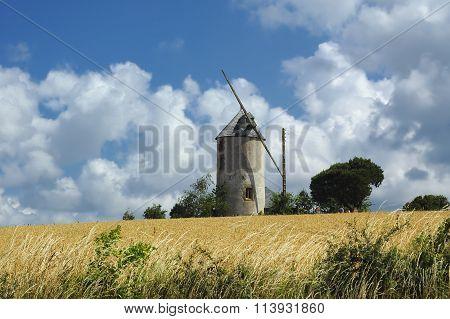 Windmill In Brittany