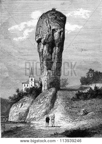 Mace of Hercules, vintage engraved illustration. Magasin Pittoresque 1878.