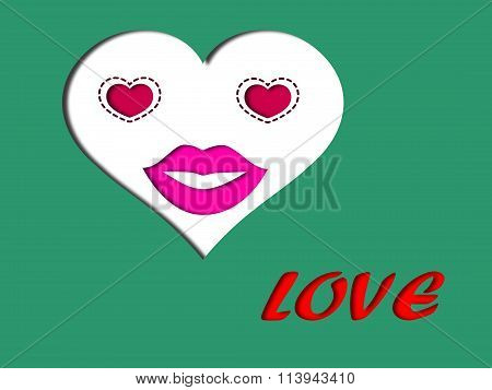 Love Face Concept On Valentine Day