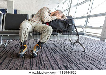Man stuck at airport