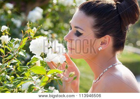 Bride outdoor portrait