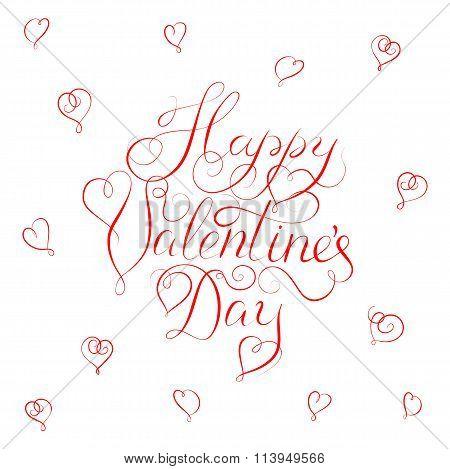 Happy Valentines Day - calligraphy