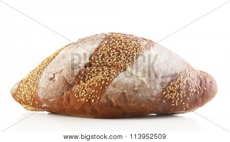 Bread isolated on white