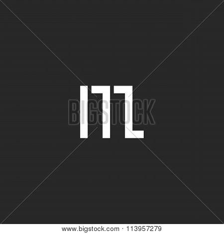 Letter M Logo Graphic Monogram, Geometric Shape Design Element, Simply Emblem For Business Card