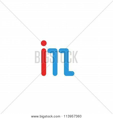 Logo Im Letter Together, Mockup International Media Emblem, Blue And Red Line I, M Design Element Lo