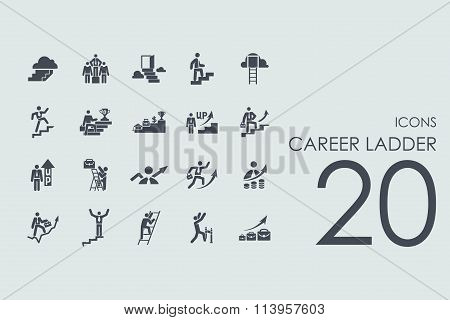 Set of career ladder icons