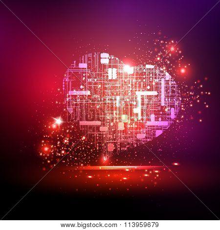 technology heart easy all editable