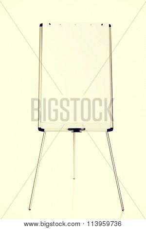 Flip chart standing on the floor