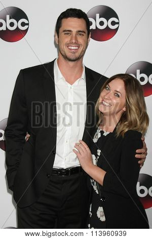 LOS ANGELES - JAN 9:  Ben Higgins, Natalie Thompson at the Disney ABC TV 2016 TCA Party at the The Langham Huntington Hotel on January 9, 2016 in Pasadena, CA