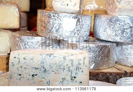 Smelly Gorgonzola Cheese Typical Of Northern Italy