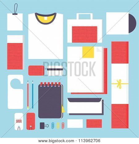 Flat style mockup design templateign