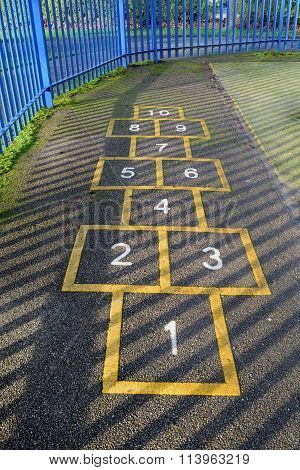 Hopscotch at playground