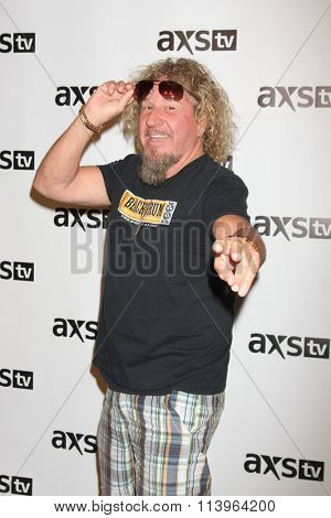 LOS ANGELES - JAN 8:  Sammy Hagger at the AXS TV Winter 2016 TCA Cocktail Party at the The Langham Huntington Hotel on January 8, 2016 in Pasadena, CA