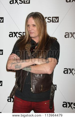 LOS ANGELES - JAN 8:  Sebastian Bach at the AXS TV Winter 2016 TCA Cocktail Party at the The Langham Huntington Hotel on January 8, 2016 in Pasadena, CA