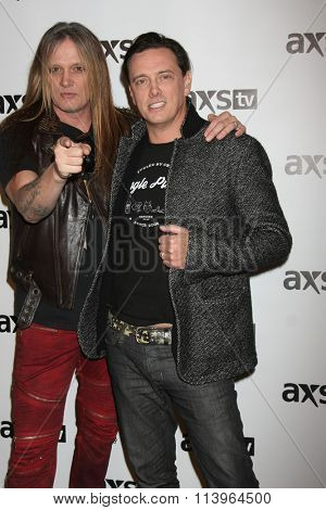 LOS ANGELES - JAN 8:  Sebastian Bach, Donovan Leitch at the AXS TV Winter 2016 TCA Cocktail Party at the The Langham Huntington Hotel on January 8, 2016 in Pasadena, CA