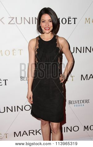 LOS ANGELES - JAN 7:  Emmanuelle Vaugier at the Mark Zunino Atelier Opening at the Mark Zunino Atelier Boutique on January 7, 2016 in Beverly Hills, CA