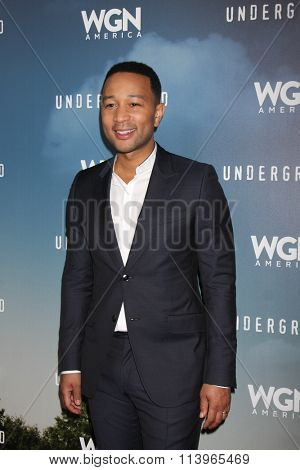 LOS ANGELES - JAN 8:  John Legend at the Underground WGN Winter 2016 TCA Photo Call at the The Langham Huntington Hotel on January 8, 2016 in Pasadena, CA
