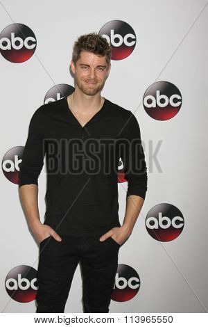 LOS ANGELES - JAN 9:  Luke Mitchell at the Disney ABC TV 2016 TCA Party at the The Langham Huntington Hotel on January 9, 2016 in Pasadena, CA