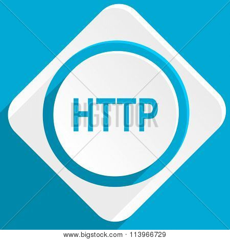 http blue flat design modern icon for web and mobile app