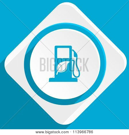 biofuel blue flat design modern icon for web and mobile app