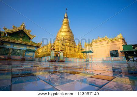 Soon Oo Ponya Shin Pagoda , Sagaing, Mandalay , Myanmar.