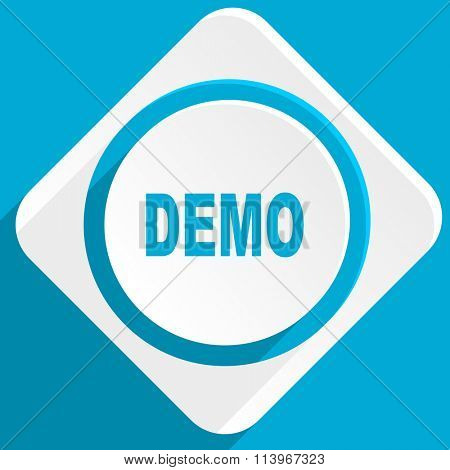 demo blue flat design modern icon for web and mobile app