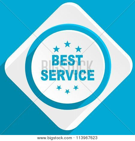 best service blue flat design modern icon for web and mobile app