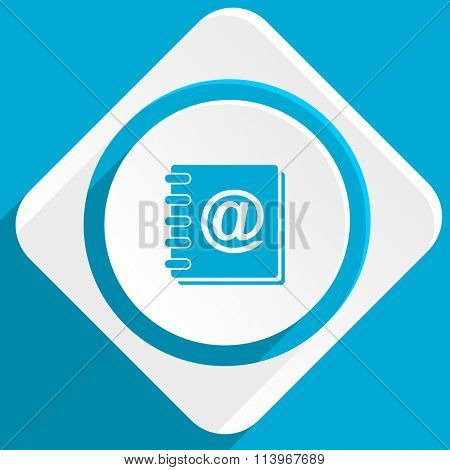 address book blue flat design modern icon for web and mobile app