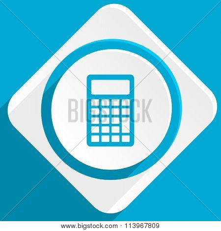 calculator blue flat design modern icon for web and mobile app