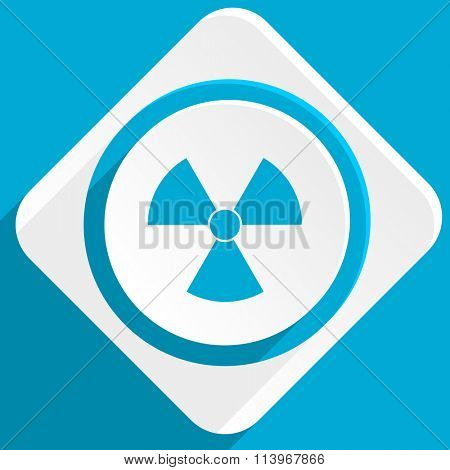 radiation blue flat design modern icon for web and mobile app