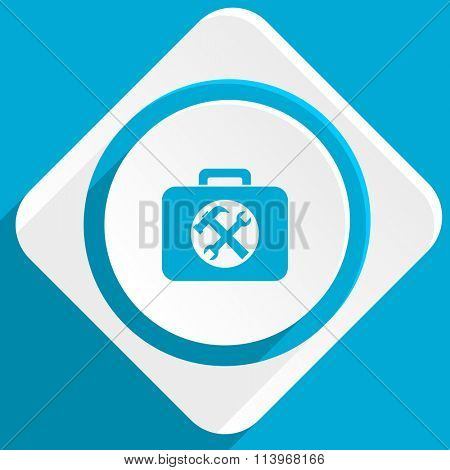 toolkit blue flat design modern icon for web and mobile app