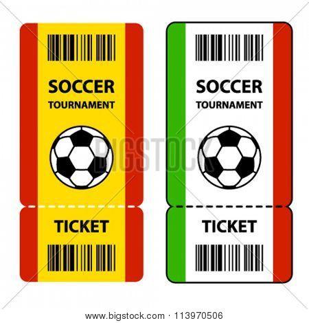 vector soccer football tournament tickets