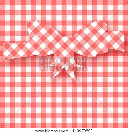 Gingham Mothers Day Card Background