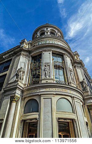 Facade Of The Store Printemps In Paris