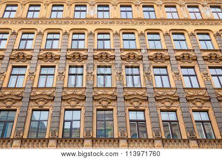 Art Nouveau Architecture Style In Riga