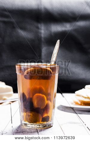 Compote In The Glass From Dried Fruits