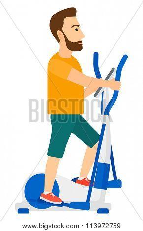 Man making exercises.