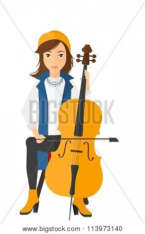 Woman playing cello.