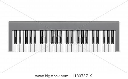 Digital Piano Or Synthesizer Isolated On White Background