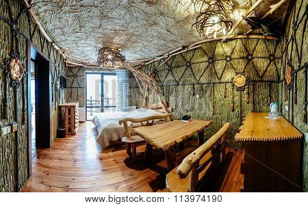 Unique ethnic interior.