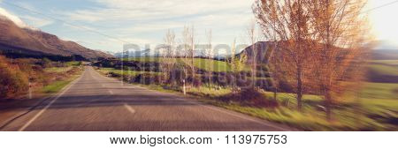 Way Tranquil Scene Roadway Destination Concept