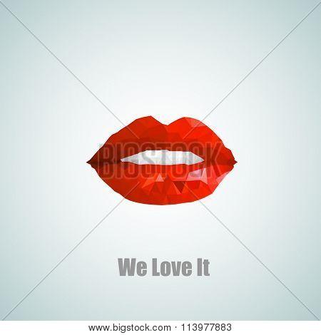 We love it Woman lips easy all editable