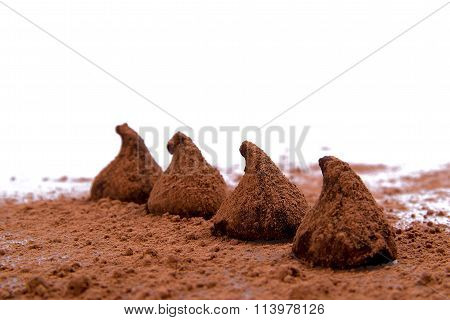 truffles on a white background