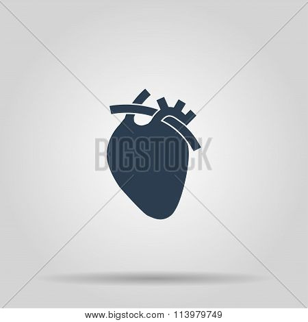 Vector Flat Heart Icon. Eps 10.
